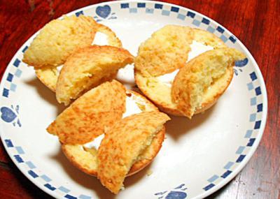 レモンのクリームマフィン