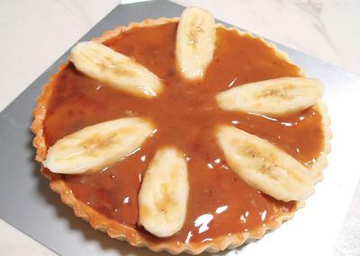 バナナのタルト