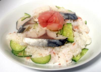 鯖ときゅうりの混ぜ寿司