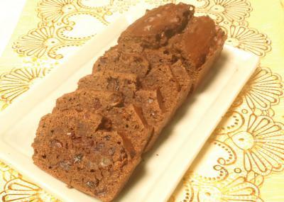 チョコとフルーツパウンドケーキ