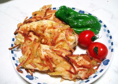 鶏肉のポテト挟み焼き