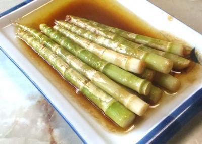 笹竹のバター醤油焼き