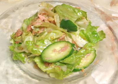 ツナとレタスの簡単サラダ