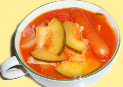 ズッキーニのトマトソース煮