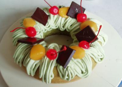 抹茶のリングケーキ