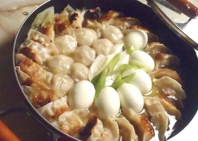 餃子のピリ辛鍋