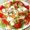豆腐のバジルサラダ
