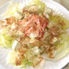 豆腐とレタスの和風サラダ