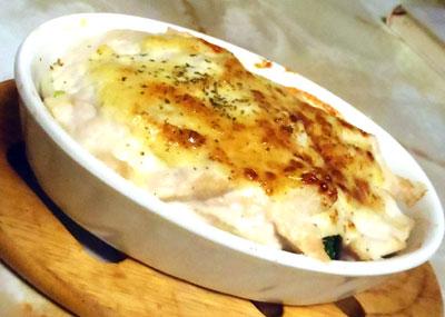 鶏胸の辛子マヨ焼き