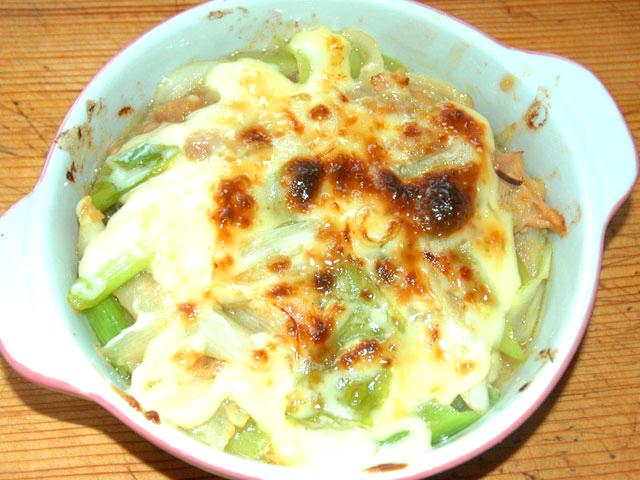 ネギとツナの味噌マヨ焼き