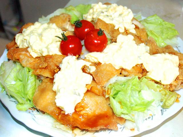 鶏モモのタルタル南蛮