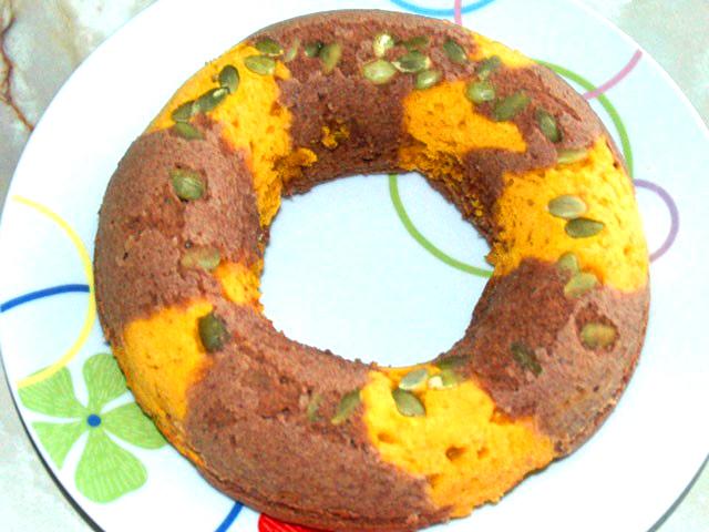 かぼちゃとココアのリングケーキ