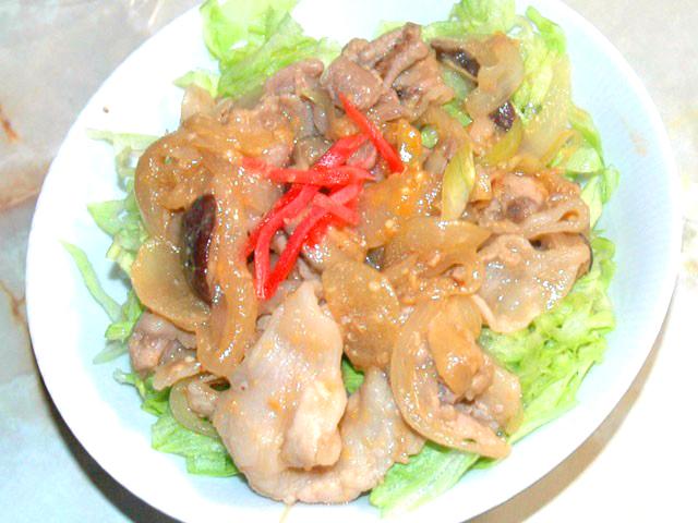 味噌味の豚丼