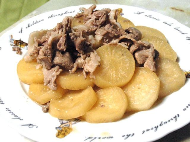 豚コマと大根の煮物