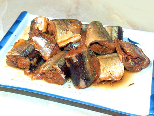 秋刀魚の柚子味噌煮