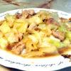 鶏モモとキャベツのフライパン蒸し