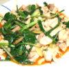 行者ニンニクと鶏の味噌炒め