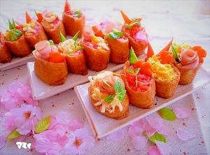 楽天レシピのススメ:ひな祭り♪節句のお祝い♪イベント♪☆デコいなり寿司