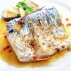 楽天レシピのススメ:オーブントースターで鯖のグリル!ピンクペパー風味