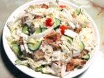 白菜のシーザー風サラダ!鶏もも肉でボリュームUP♪
