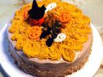 ハロウィンに!南瓜のシフォン風デコスポンジケーキ♪