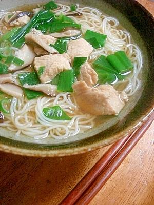 そうめんで温まろう!鶏肉入りにゅうめん:楽天レシピのススメ