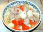 塩鶏じゃが風?里芋と鶏肉の旨塩にんにく煮♪