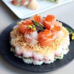 ひな祭りに お花の「ちらし寿司ケーキ」:楽天レシピのススメ