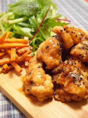 冷めても美味しい 味噌ポンダレで食べる唐揚げ:楽天レシピ