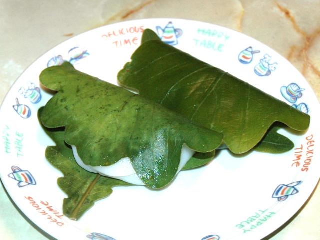 子供の日の和菓子なら?レンジで作れる柏餅で♪