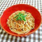 お茶漬けの素で簡単納豆パスタ:楽天レシピ