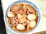 根菜でほっこり!卵と鶏肉と大根の甘辛煮♪