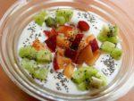 チアシードでヨーグルト♪(プラム&キウイ):楽天レシピのすすめ
