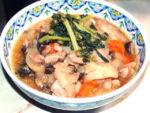 圧力鍋で時短!鶏モモと野菜のオイスター味噌煮♪