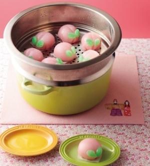[ル・クルーゼ公式] 桃まんじゅう:楽天レシピのすすめ