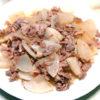レンチンで時短!豚バラ肉と大根の甘酢炒め煮♪