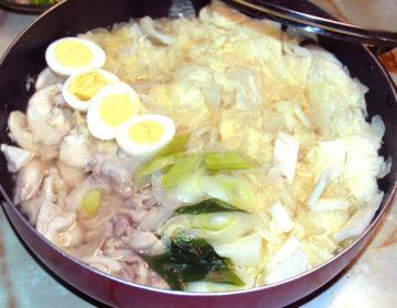 2種の鶏肉で!白菜たっぷりのウマウマ塩鶏鍋♪