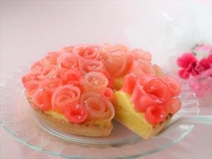 バラのアップルタルト:楽天レシピのすすめ
