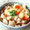 レンジで時短!根菜と鶏もも肉のあんかけ風煮物♪