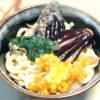 コーンの天ぷら入り!野菜天のぶっかけ冷やしうどん♪