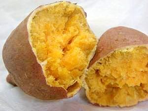 楽天レシピのすすめ:レンジで簡単!本格焼き芋♪