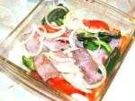 オーブンで作る!豚ロースと野菜のステーキ風♪