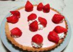 苺のレアチーズタルト