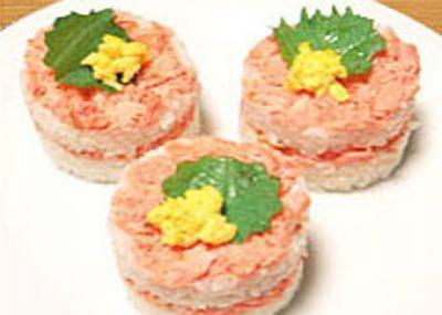 鮭の華やか寿司