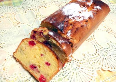 ラズベリーのパウンドケーキ