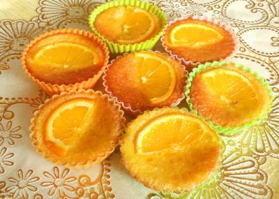 オレンジのカップケーキ