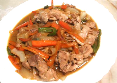 豚と野菜の甘辛炒め