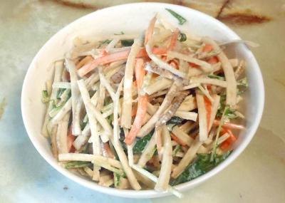 ごぼうと水菜のマヨサラダ