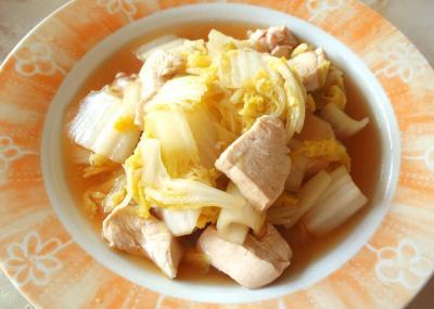 白菜と鶏胸肉のさっぱり煮