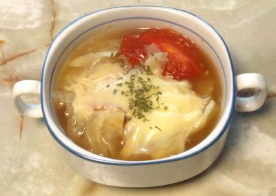 トマトとキャベツの簡単スープ